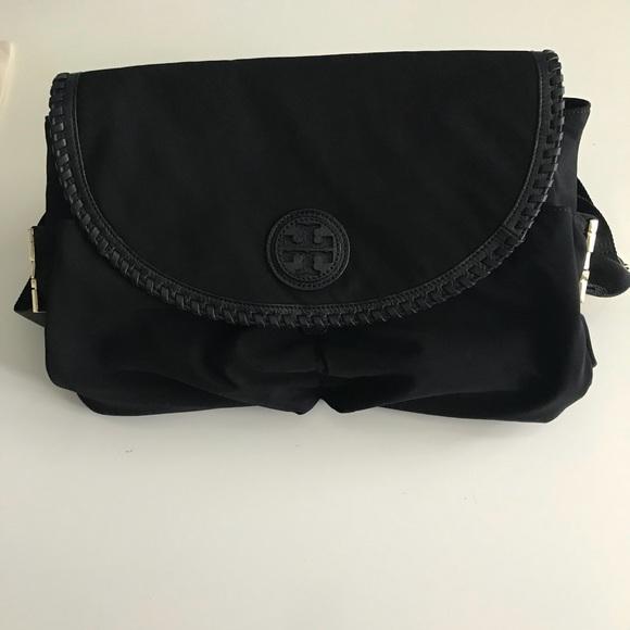 f54741404c3a Tory Burch Marion Crossbody Diaper Bag Black. M 5b1ec0defe515139164f1dcd
